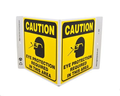 Eco Safety V Sign, 7X12