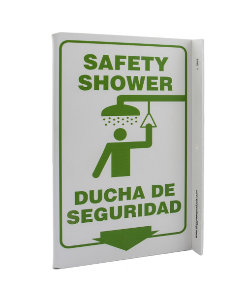 Eco Safety L Sign, 11X8