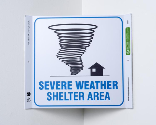 Eco Safety Corner Sign, 10X10