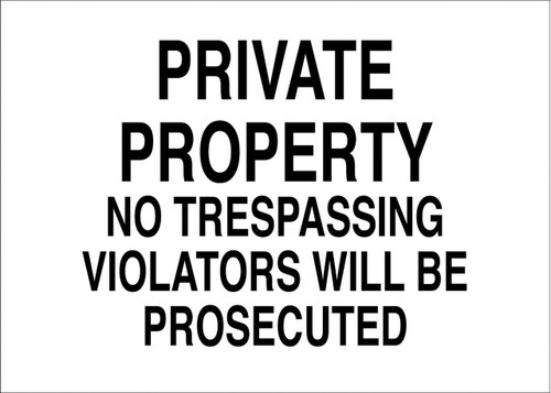 Eco Security Sign, 10X14
