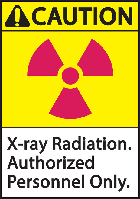 ZING Eco Safety Sign, X-Ray Radiation, Authorized Personnel Only, Available in Different Sizes and Materials