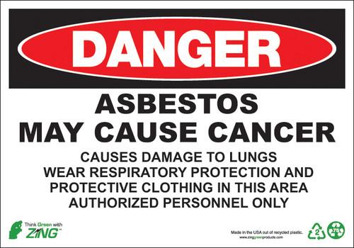 Danger Asbestos Sign