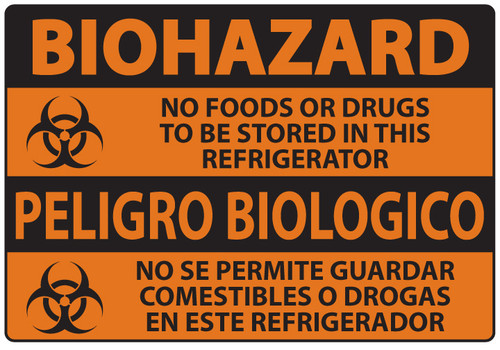 BioHazard Sign, No Food or Drugs In This Refrigerator