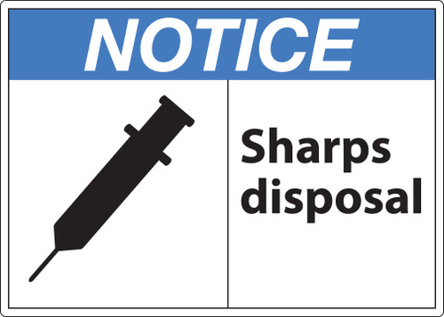 Notice Sign, Sharps Disposal