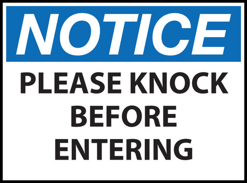 Notice Sign, Knock Before Entering