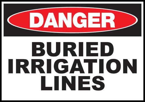 Danger Sign Buried Irrigation Lines