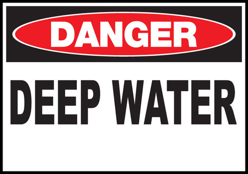 Danger Sign Deep Water