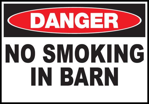 Danger Sign No Smoking In Barn