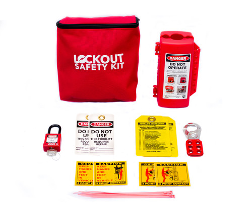 Forklift Lockout Kit, Red Fabric Pouch