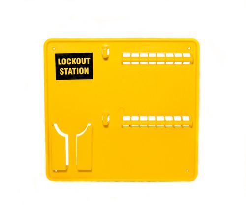 Lockout Station, Yellow Plastic, 16 Lock Capacity