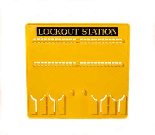 Lockout Station, Yellow Plastic, 48 Lock Capacity