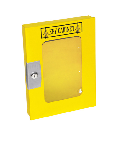 Lockout Cabinet, Yellow Steel, 30 Lock Capacity