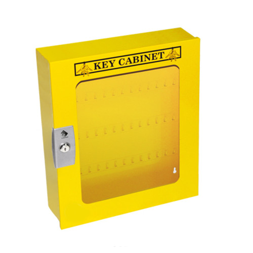 Lockout Cabinet, Yellow Steel, 160 Lock Capacity