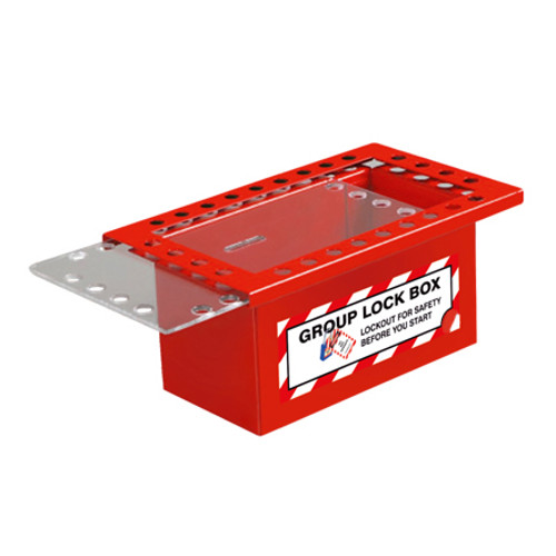 Group Lockout Box, Red, 25 Lock Capacity