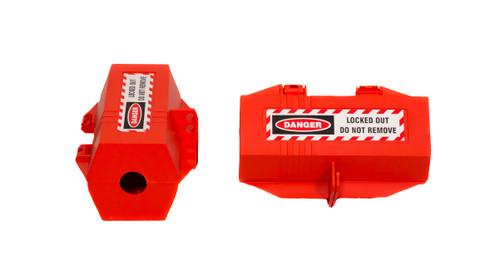Plug Lockout, Red, Large, 4-Hole