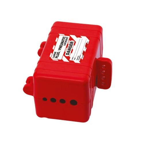 Plug-Pneumatic Lockout, Red, 4-Hole