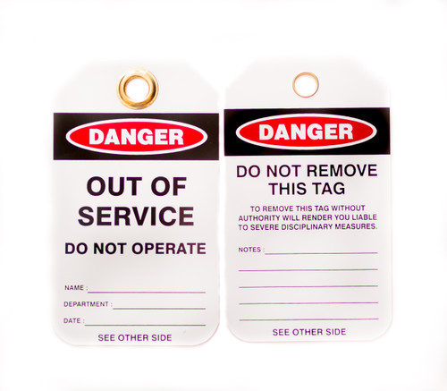 Lockout Tags, Out of Service, 10/pk