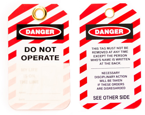 Lockout Tags, Do Not Operate, Laminating, Photo ID