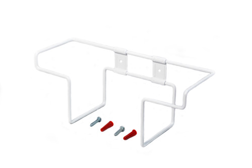 Steel glove box display rack, white