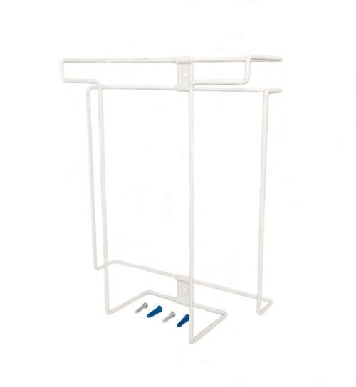Glove Dispenser, Stores 3 Boxes, White, Steel
