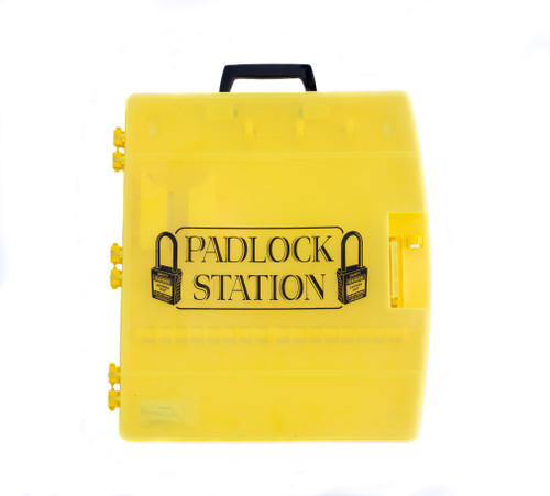 Portable, Closeable Lockout Station.