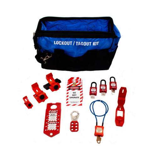 Electrical Lockout Kit, Blue Duffel Bag