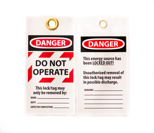 """Lockout Tag, 10/PK, DANGER DO OPERATE, 6""""x3"""""""