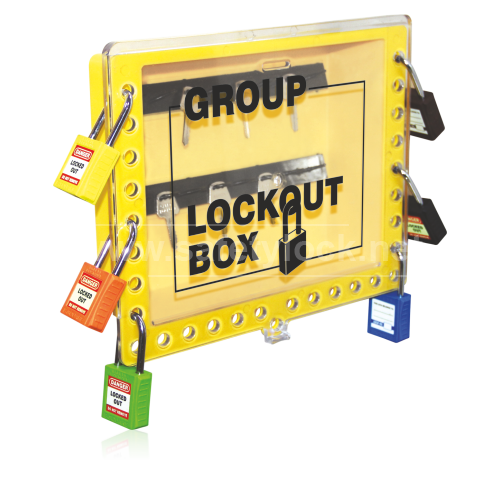 Group Lockout Box, Wall Mount, Plastic, 29 Lock Capacity