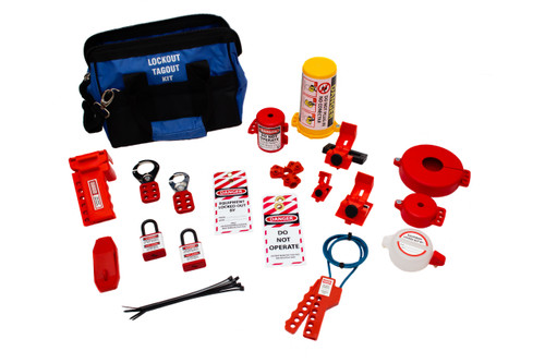 Lockout Kit, Plastic Box with handle, contains 2 locks