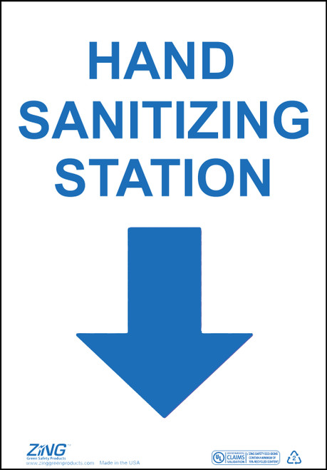 Eco Safety Sign, Hand Sanitizing Station, Available in Different Sizes and Materials