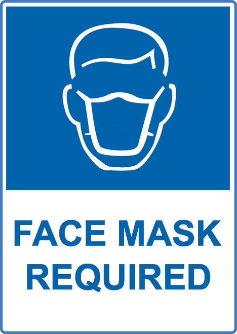 ZING Eco Safety Sign, Face Mask Required, Available in Different Sizes and Materials
