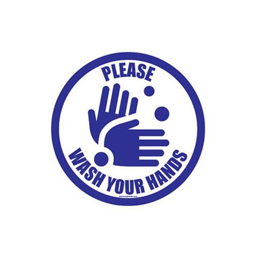 """Floor Sign, Please Wash Your Hands, 12"""" x 12"""""""