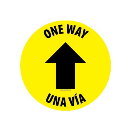 """Floor Sign,One Way, 12"""" x 12"""""""