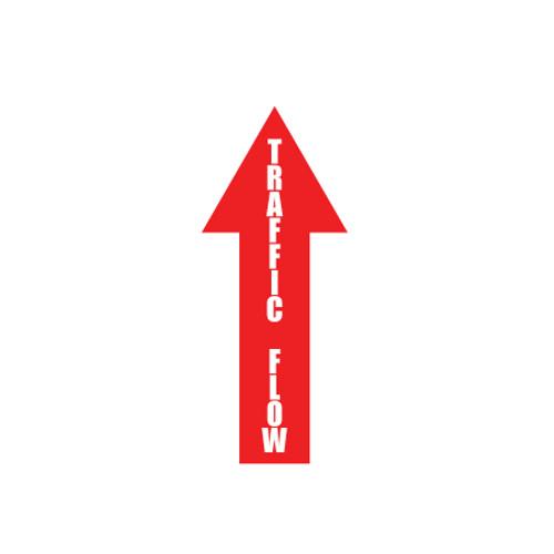 """Arrow Floor Sign, Traffic Flow, 4"""" x 12"""""""