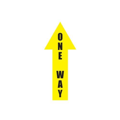"""Arrow Floor Sign, One Way, 4"""" x 12"""""""