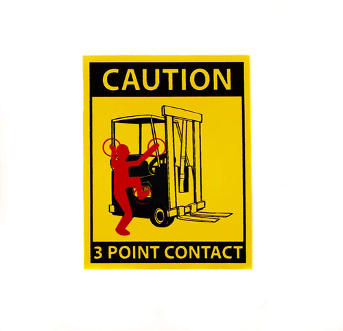 Forklift Safety Labels, Keep 3 Points Contact, Caution