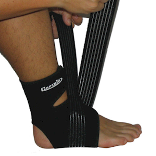 Ankle Support with Spandex Wrap