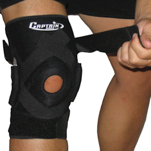 Hinged Knee Brace with Patella Stabilizers