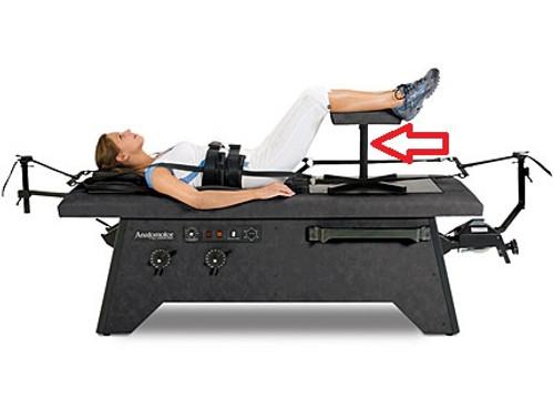 Decompression Table Leg Stool- Black Upholstery
