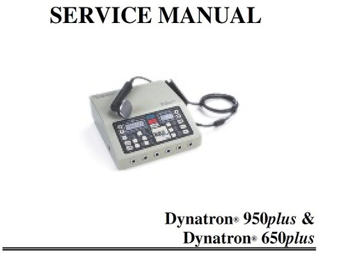 Dynatron 950 Plus Service Manual with Schematics - PDF Download