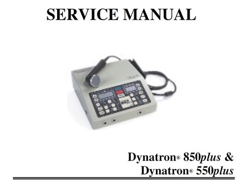 Dynatron 850 Service Manual with Schematics - PDF Download