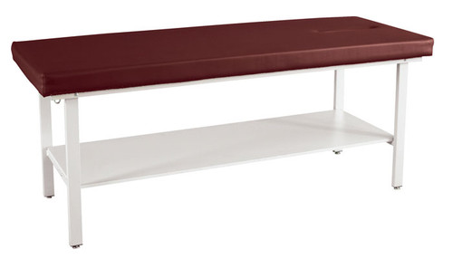 8510SH - Winco Treatment Table with Face Cutout and Shelf