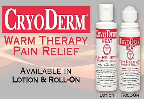 CryoDerm Pain Relieving Heat Therapy 3oz Roll On