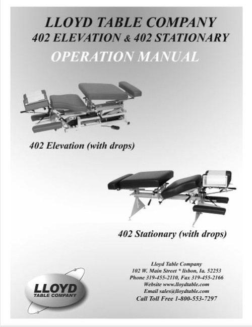 Lloyd 402 Elevation & 402 Stationary Operation Manual - PDF Download