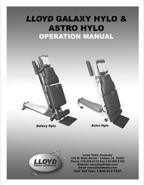 Lloyd Galaxy Hylo & Astro Hylo Operation Manual - PDF Download