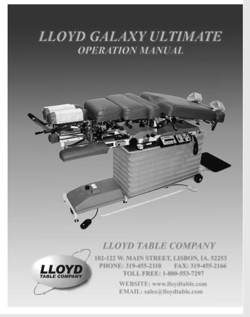Lloyd Galaxy Ultimate Operation Manual - PDF Download