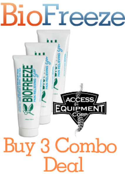 Biofreeze Pain Relieving Gel, Tube - 4 oz (Pack of 3)