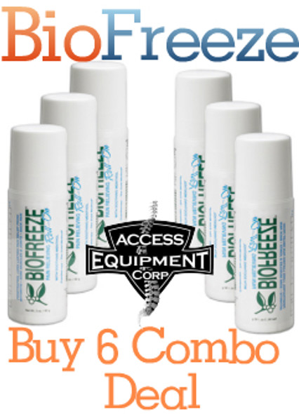 Biofreeze Pain Relieving Gel, Roll On - 3oz (Pack of 6)