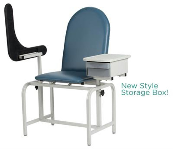 2572 Padded Blood Drawing Chair with Cabinet