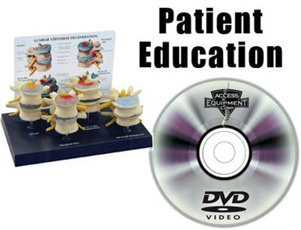 Decompression Patient Education  Package - DVD & Model